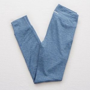Aerie BLUE cuff and pocket leggings